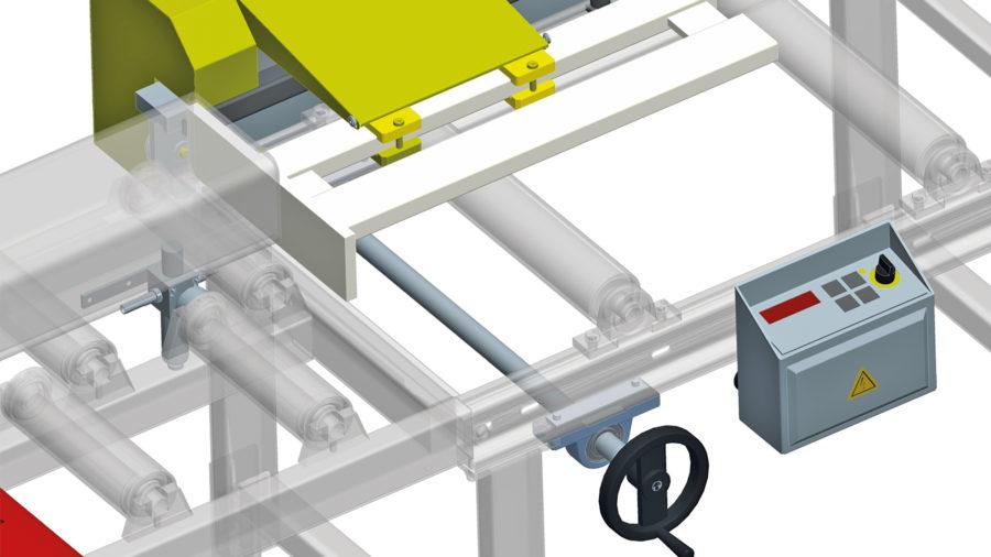 Materialanschlag mit Handrad und Digitalanzeige (XDA) Image